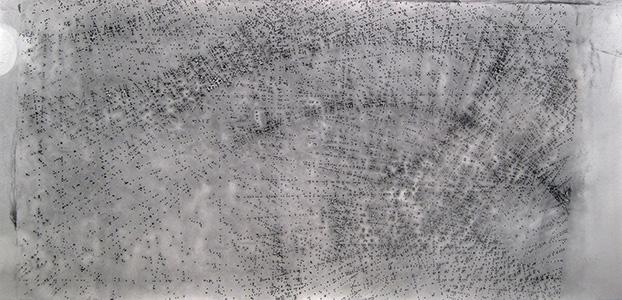 Séquence III, fusain sur papier, 240 x 114 cm, 2013