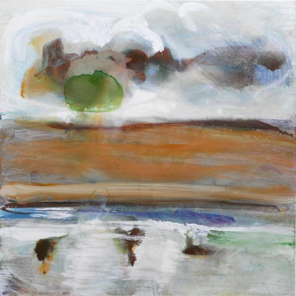 Sables 3, 2010, acrylique sur toile, 100 x 100 cm